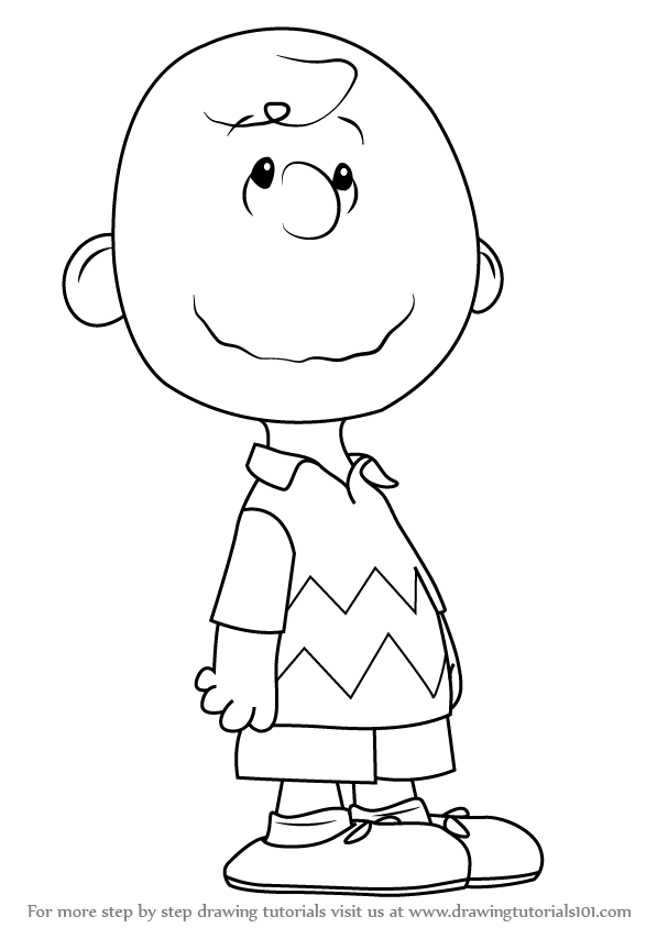 learn how to draw charlie brown from the peanuts movie the peanuts