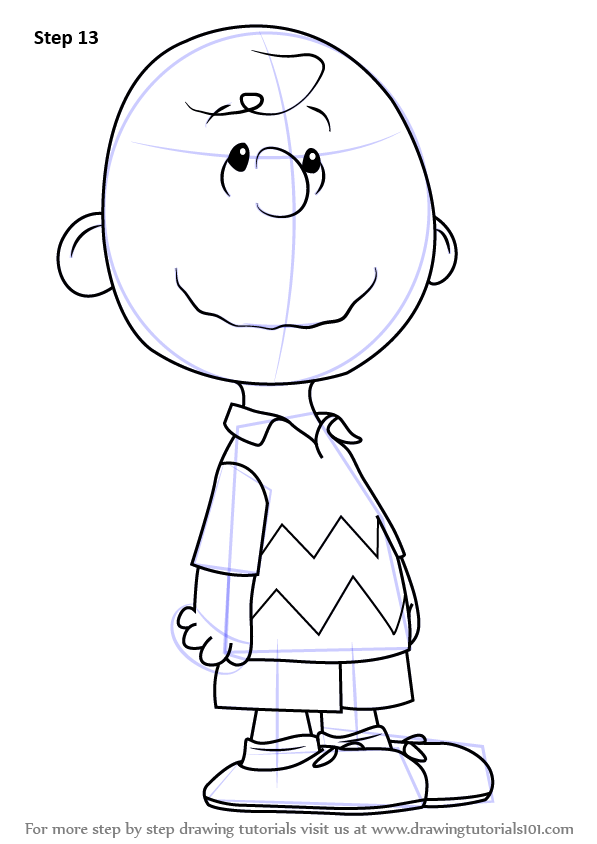 Learn How To Draw Charlie Brown From The Peanuts Movie