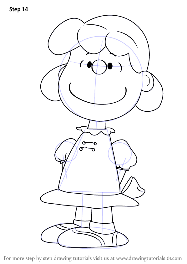 Step By Step How To Draw Lucy From The Peanuts Movie