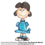 How to Draw Lucy from The Peanuts Movie