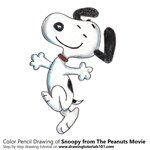 How to Draw Snoopy from The Peanuts Movie