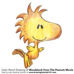 How to Draw Woodstock from The Peanuts Movie
