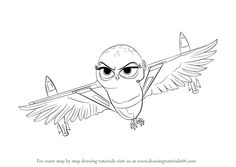 Learn How To Draw Eva From The Penguins Of Madagascar The