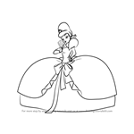 How to Draw Charlotte La Bouff from The Princess and the Frog