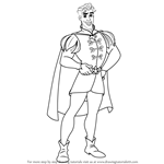 How to Draw Prince Naveen from The Princess and the Frog