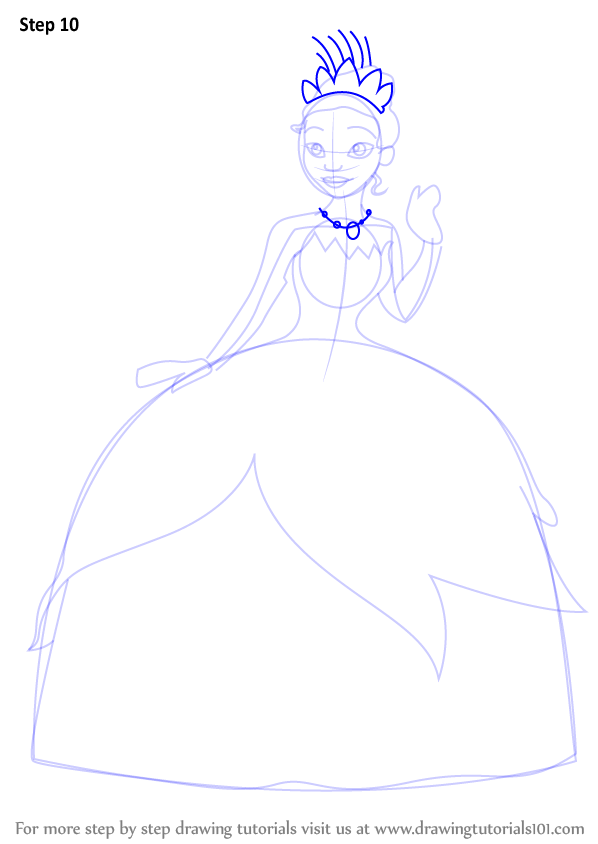 Learn How To Draw Tiana From The Princess And The Frog Princess And The Frog Drawing