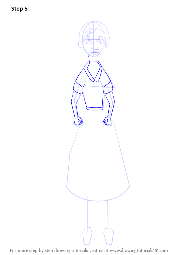 Learn How To Draw Waitress Tiana From The Princess And The