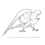 How to Draw Marahute Giant Eagle from The Rescuers Down Under