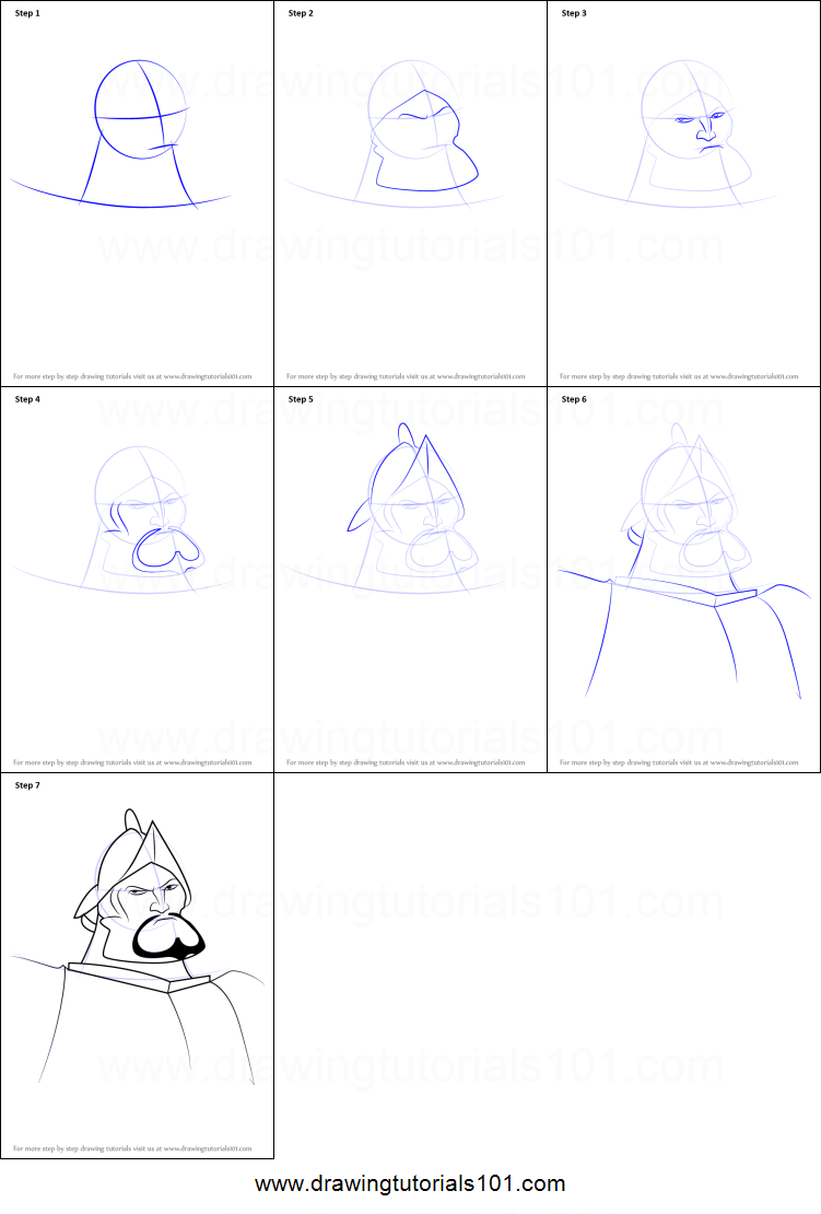 How To Draw Hernán Cortés From The Road To El Dorado Printable Step