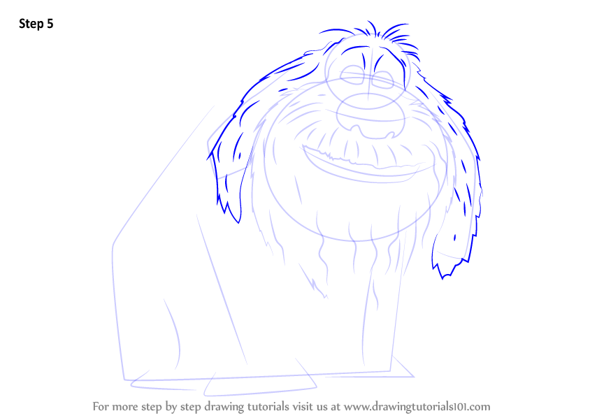 how to draw secret life of pets snowball