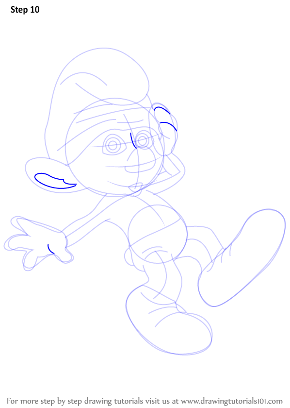 learn how to draw clumsy smurf from the smurfs  the smurfs  step by step   drawing tutorials