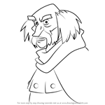 How to Draw Rothbart from The Swan Princess