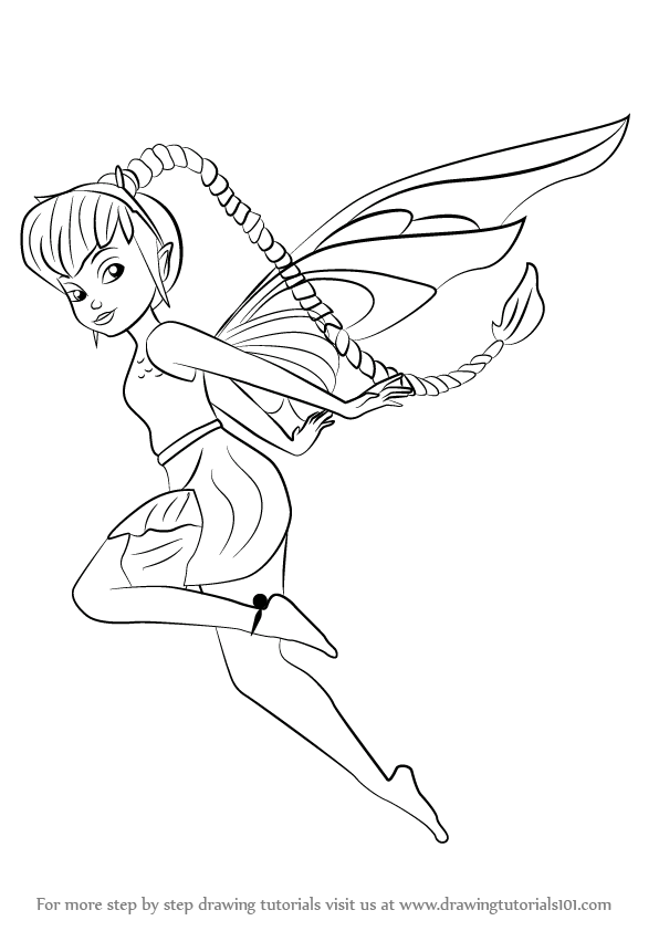 Disney fairies coloring pages fawn hall ~ Learn How to Draw Fawn from Tinker Bell (Tinker Bell) Step ...