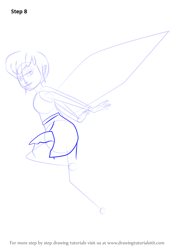 Learn how to draw fawn from tinker bell tinker bell step for How to draw a cartoon fairy