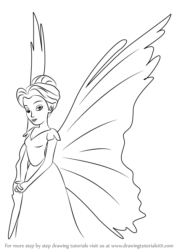 Learn How to Draw Queen Clarion from Tinker Bell (Tinker Bell