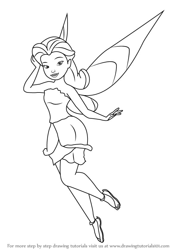 step by step how to draw rosetta garden fairy from tinker bell drawingtutorials101com