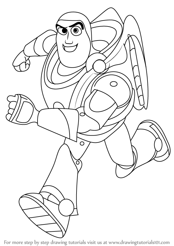 easy buzz lightyear coloring pages