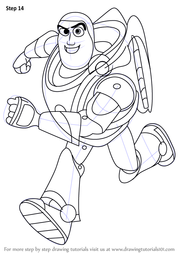 Learn How to Draw Buzz Lightyear from Toy Story (Toy Story ...