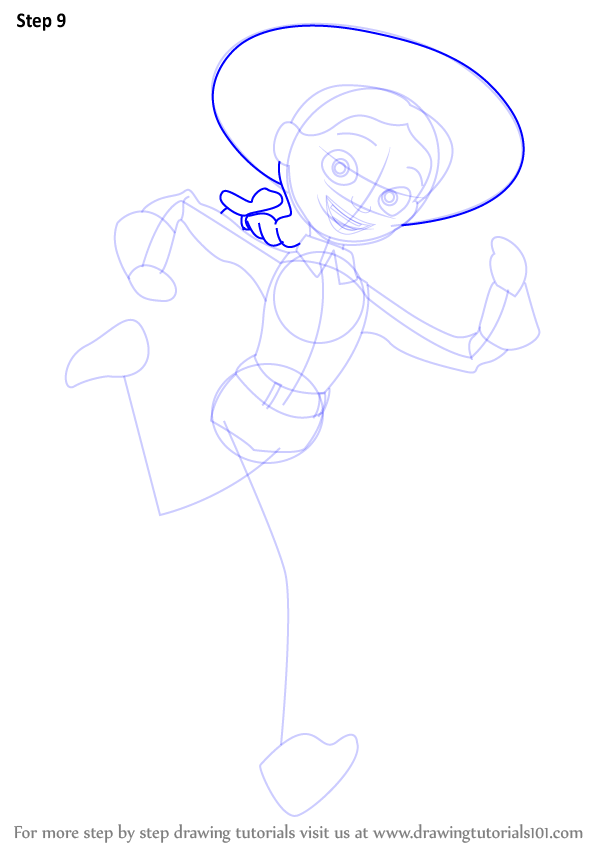 learn how to draw jessie from toy story toy story step