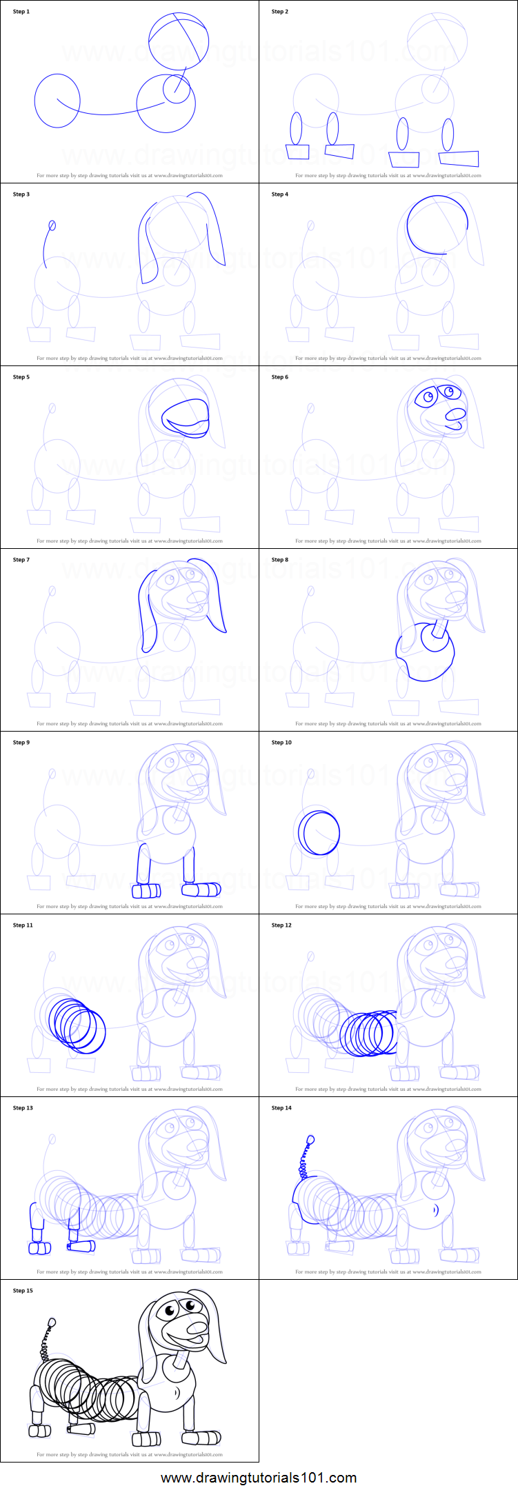 how to draw toy story step by step