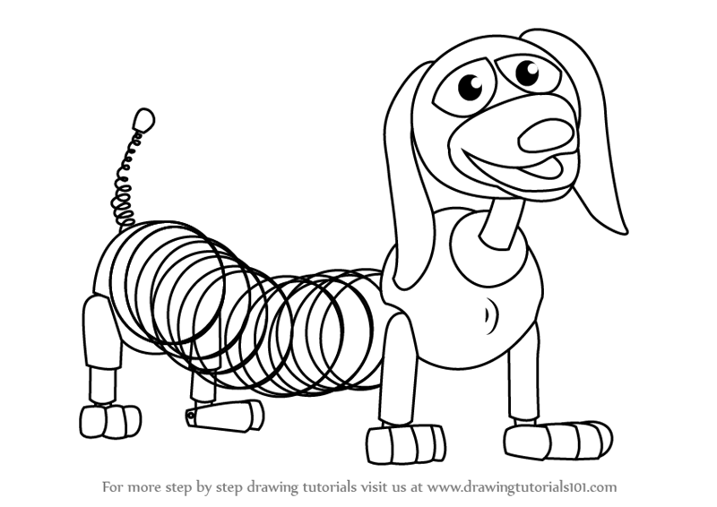 draw slinky dog from toy story toy story step by step drawing