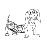 How to Draw Slinky Dog from Toy Story
