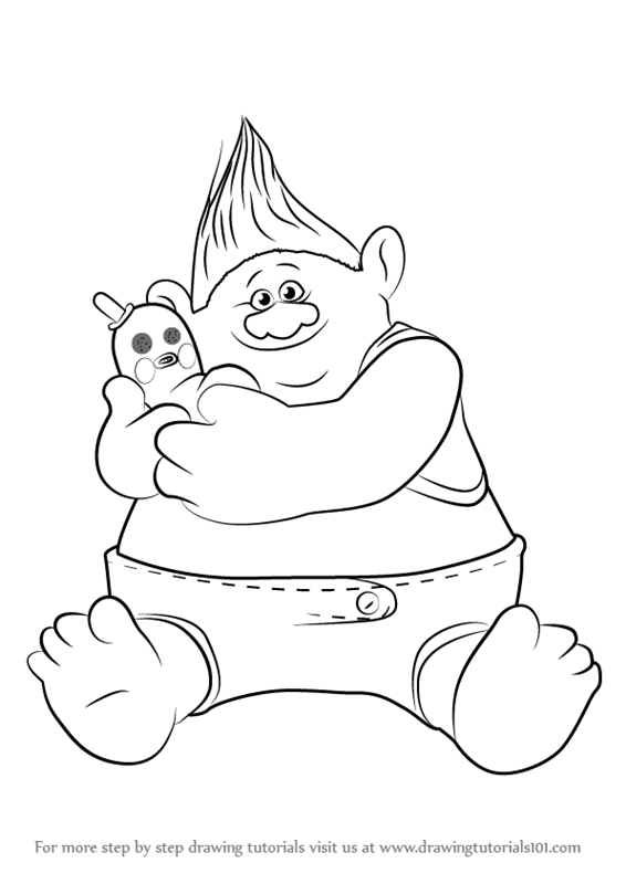 Learn how to draw biggie from trolls trolls step by step learn how to draw biggie from trolls trolls step by step drawing tutorials ccuart Gallery