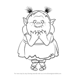 How to Draw Bridget from Trolls