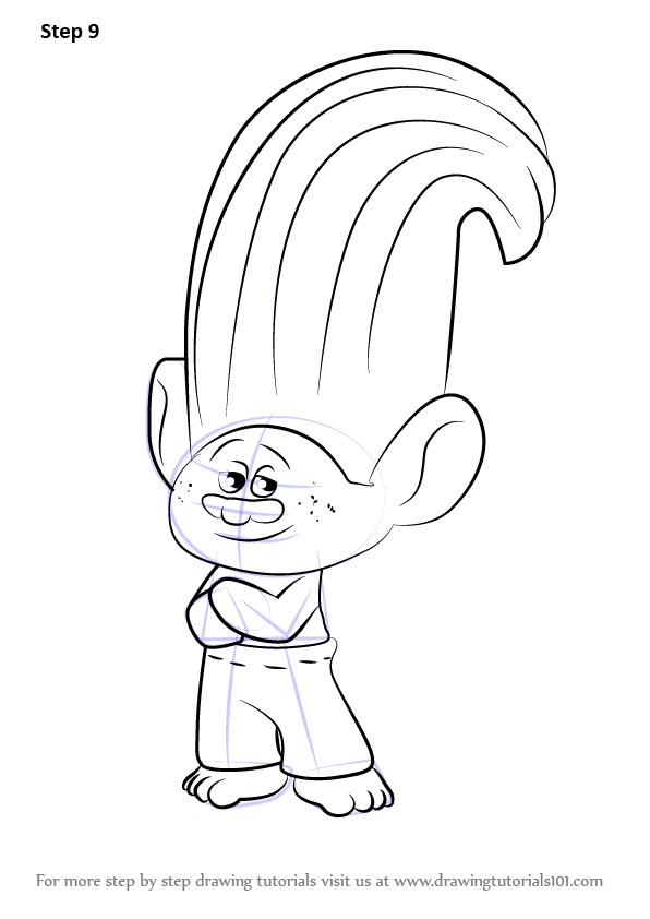 Learn How to Draw Creek from Trolls