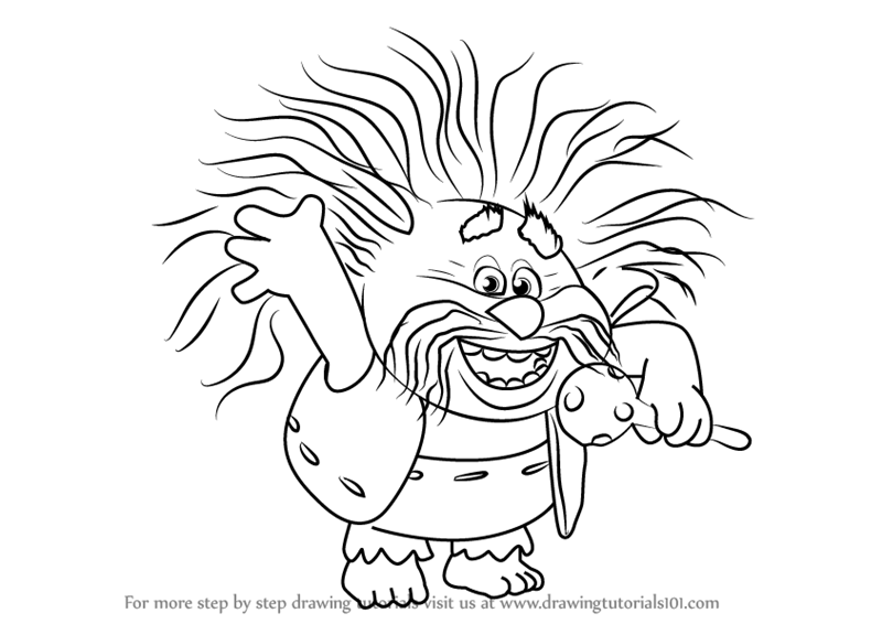 Learn How To Draw King Peppy From Trolls Step By Drawing Tutorials