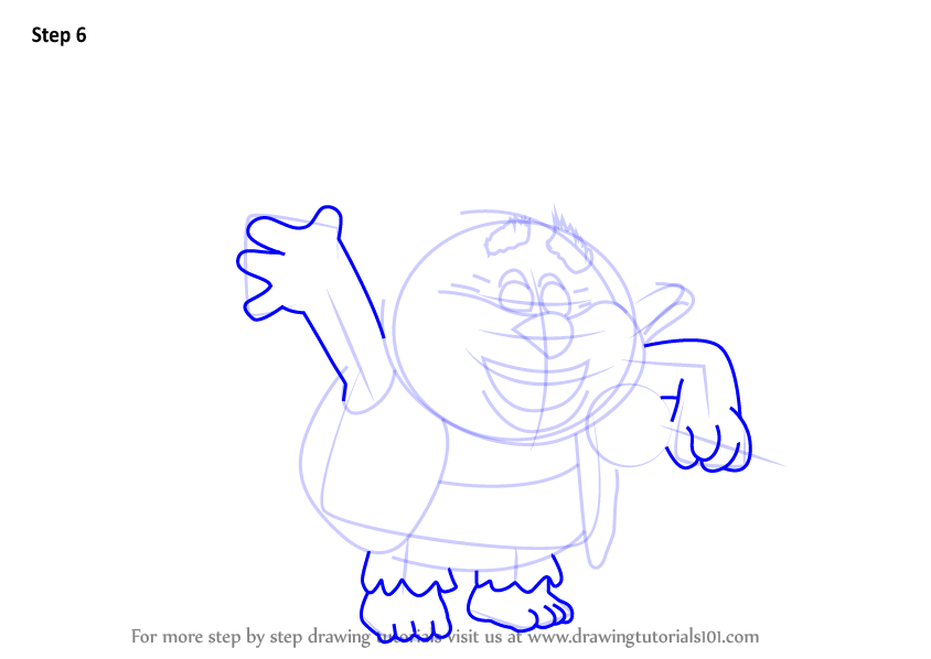 how to draw a troll step by step