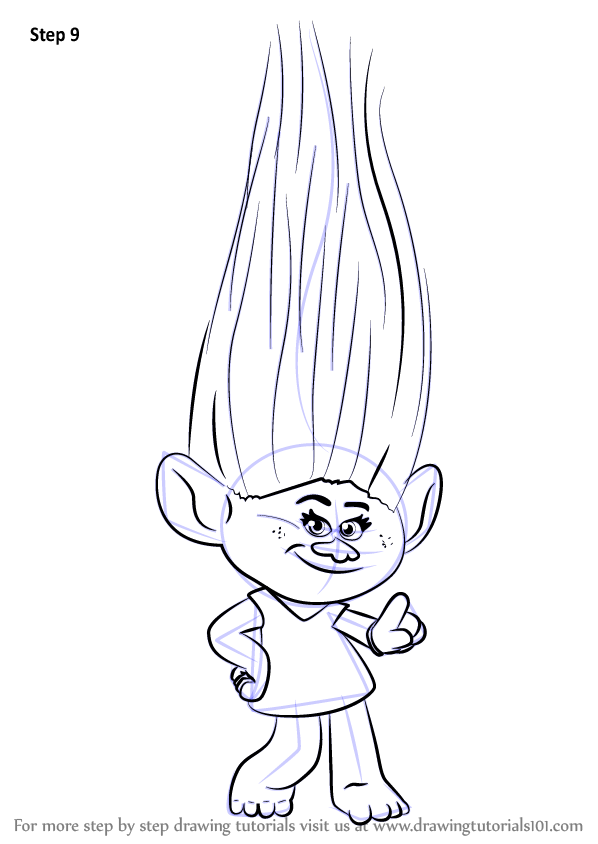 learn how to draw moxie from trolls  trolls  step by step