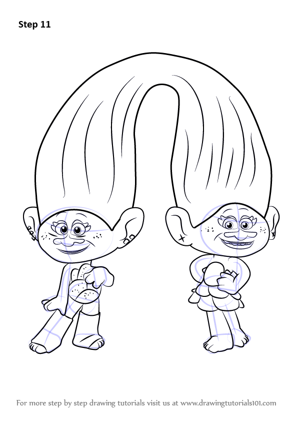 Learn How To Draw Satin And Chenille From Trolls Trolls