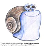 How to Draw Chet from Turbo Movie