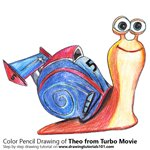 How to Draw Theo from Turbo Movie