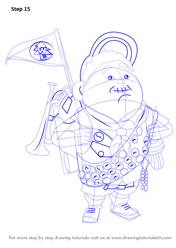 Step By Step How To Draw Russell Wilderness Explorer From