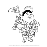 How to Draw Russell Wilderness Explorer from Up