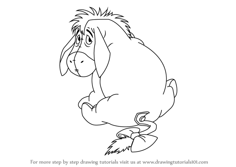 Learn How to Draw Eeyore from Winnie