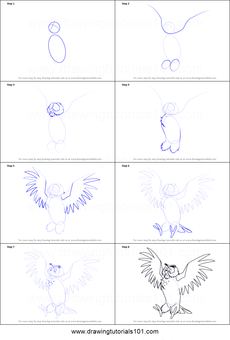 How To Draw Owl From Winnie The Pooh