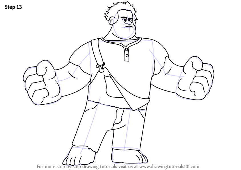 Learn How To Draw Wreck It Ralph Wreck It Ralph Step By Step