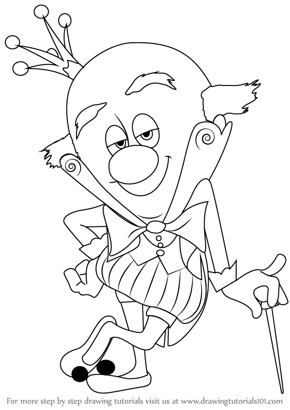 Learn How To Draw King Candy From Wreck It Ralph Wreck It Ralph Drawing King
