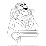 How to Draw Mayor Lionheart from Zootopia