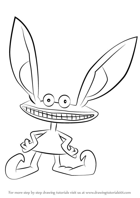 Learn How To Draw Ickis From Aaahh Real Monsters Aaahh