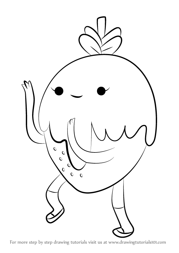 Step by Step How to Draw Chocoberry from Adventure Time ...