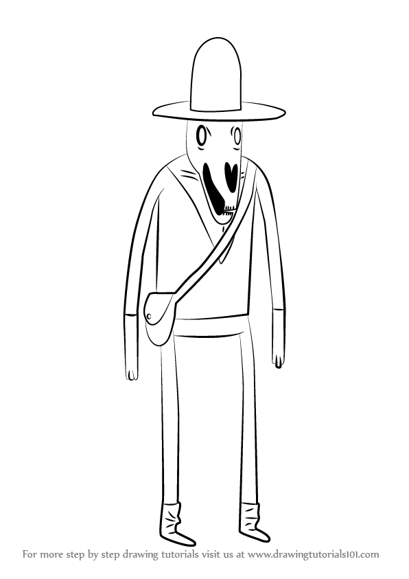 how to draw a avature cartoon fisherman