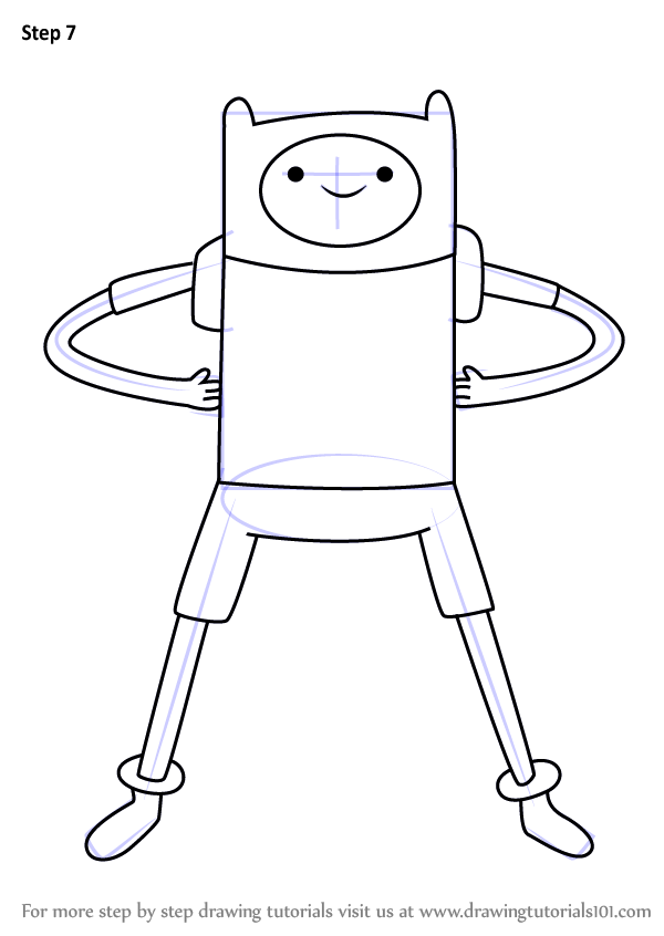 learn how to draw finn the human from adventure time