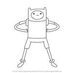 How to Draw Finn the Human from Adventure Time