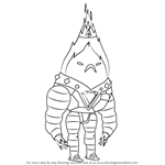 How to Draw Flame King from Adventure Time