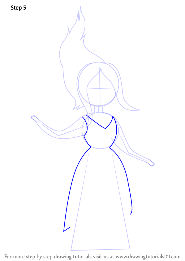 learn how to draw flame princess from adventure time