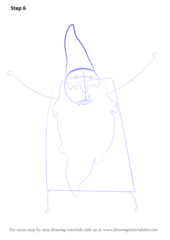 how to draw a wizard step by step